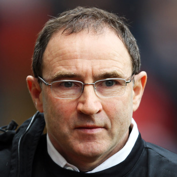 BIRMINGHAM, ENGLAND - MARCH 20:  Aston Villa manager Martin O'Neill looks on prior to the Barclays Premier League match between Aston Villa and Wolverhampton Wanderers at Villa Park on March 20, 2010 in Birmingham, England.  (Photo by Bryn Lennon/Getty Im