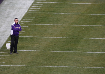 CHICAGO - NOVEMBER 20: Head coach Pat Fitzgerald of the Northwestern Wildcats watches as his team takes on the Illinois Fighting Illini during a game played at Wrigley Field on November 20, 2010 in Chicago, Illinois. (Photo by Jonathan Daniel/Getty Images