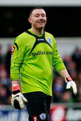 LONDON, ENGLAND - JANUARY 23:  Paddy Kenny of QPR smiles during the npower Championship match between Queens Park Rangers and Coventry City at Loftus Road on January 23, 2011 in London, England.  (Photo by Dan Istitene/Getty Images)
