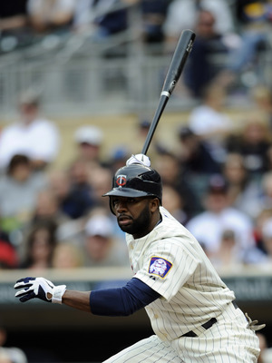 MINNEAPOLIS, MN - MAY 29: Denard Span #2 of the Minnesota Twins hits a double against the Los Angeles Angels of Anaheim during the first inning of their game on May 29, 2011 at Target Field in Minneapolis, Minnesota. (Photo by Hannah Foslien/Getty Images)
