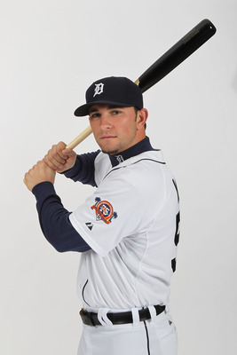 LAKELAND, FL - FEBRUARY 21:  Casper Wells #57 of the Detroit Tigers poses for a portrait during Photo Day on February 21, 2011  at Joker Marchant Stadium in Lakeland, Florida.  (Photo by Nick Laham/Getty Images)