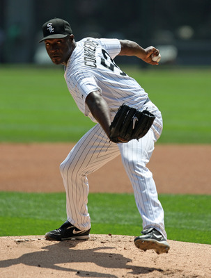 CHICAGO - AUGUST 09: Starting pitcher Jose Contreras #52 of the Chicago White Sox delivers the ball against the Cleveland Indians on August 9, 2009 at U.S. Cellular Field in Chicago, Illinois. (Photo by Jonathan Daniel/Getty Images)