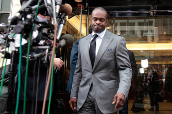 WASHINGTON, DC - JULY 25:  DeMaurice Smith, executive director of the National Football League Players' Association walks to a news conference on July 25, 2011 in Washington, DC.  The NFL players and owners announced they have reached agreement and ended