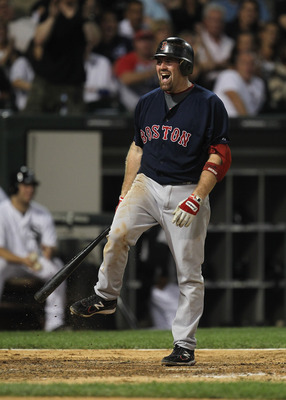 CHICAGO, IL - JULY 29:  Kevin Youkilis #20 of the Boston Red Sox reacts after striking out against Gavin Floyd of the Chicago White Sox at U.S. Cellular Field on July 29, 2011 in Chicago, Illinois. The White Sox defeated the Red Sox 3-1.  (Photo by Jonath