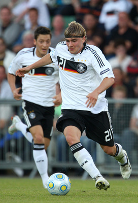 HALMSTAD, SWEDEN - JUNE 22:  Marcel Schmelzer of Germany during the UEFA European U21 Championships match between Germany and England at Orjans vall on June 22, 2009 in Halmstad, Sweden. (Photo by Phil Cole/Getty Images)
