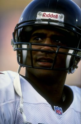 8 Nov 1998:  Defensive back Eugene Robinson #41 of the Atlanta Falcons looks on during a game against the New England Patriots at the Foxboro Stadium in Foxboro, Massachusetts. The Falcons defeated the Patriots 41-10. Mandatory Credit: Ezra O. Shaw  /Alls