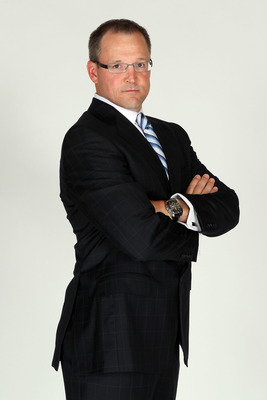 LAS VEGAS, NV - JUNE 22:  Dan Bylsma of the Pittsburgh Penguins poses for a portrait during the 2011 NHL Awards at the Palms Casino Resort June 22, 2011 in Las Vegas, Nevada.  (Photo by Jeff Gross/Getty Images)