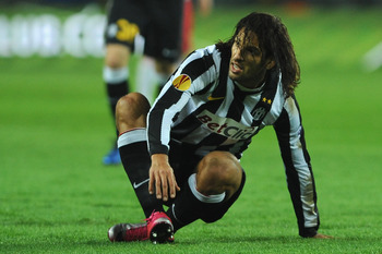 TURIN, ITALY - NOVEMBER 04:  Carvalho de Oliveira Amauri of Juventus FC looks on during the Uefa Europa League group A match between Juventus FC and FC Red Bull Salzburg at Stadio Olimpico di Torino on November 4, 2010 in Turin, Italy.  (Photo by Valerio