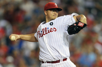 PHILADELPHIA, PA - JULY 26: Starting pitcher Vance Worley #49 of the Philadelphia Phillies pitches in the bottom of the ninth inning during the game against the San Francisco Giants at Citizens Bank Park on July 26, 2011 in Philadelphia, Pennsylvania. The
