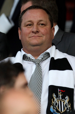 MANCHESTER, ENGLAND - AUGUST 16:  Newcastle United owner Mike Ashley looks on prior to the Barclays Premier League match between Manchester United and Newcastle United at Old Trafford on August 16, 2010 in Manchester, England. (Photo by Alex Livesey/Getty