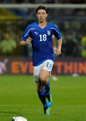 MODENA, ITALY - JUNE 03:  Riccardo Montolivo of Italy in action during the UEFA EURO 2012 Group C qualifying match between Italy and Estonia on June 3, 2011 in Modena, Italy.  (Photo by Claudio Villa/Getty Images)