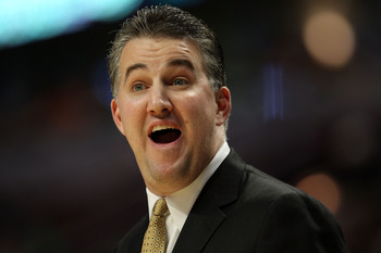 CHICAGO, IL - MARCH 20:  Head coach Matt Painter of the Purdue Boilermakers reacts in the game against the Virginia Commonwealth Rams during the third round of the 2011 NCAA men's basketball tournament at the United Center on March 20, 2011 in Chicago, Il