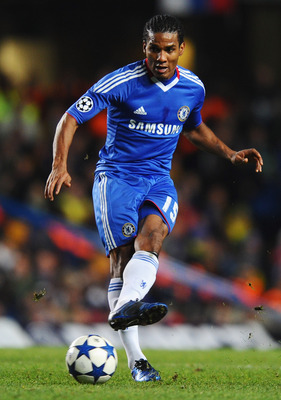 LONDON, ENGLAND - NOVEMBER 23:  Florent Malouda of Chelsea in action during the UEFA Champions League Group F match between Chelsea and MSK Zilina at Stamford Bridge on November 23, 2010 in London, England.  (Photo by Mike Hewitt/Getty Images)