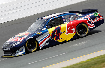 LOUDON, NH - JULY 15:  Kasey Kahne drives the #4 Red Bull Toyota during practice for the NASCAR Sprint Cup Series LENOX Industrial Tools 301 at New Hampshire Motor Speedway on July 15, 2011 in Loudon, New Hampshire.  (Photo by Todd Warshaw/Getty Images fo