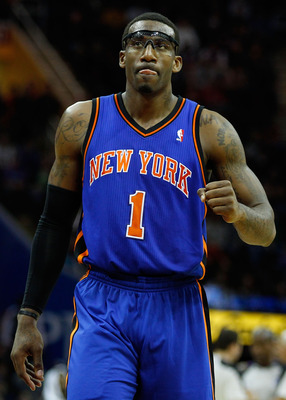 CLEVELAND - FEBRUARY 25:  Amar'e Stoudemire #1 of the New York Knicks walks the court during a game against the Cleveland Cavaliers on February 25, 2011 at Quicken Loans Arena in Cleveland, Ohio. NOTE TO USER: User expressly acknowledges and agrees that,