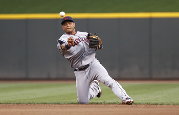 CINCINNATI, OH - JULY 1: Orlando Cabrera #20 of the Cleveland Indians throws out a runner at first base after fielding a ground ball against the Cincinnati Reds at Great American Ball Park on July 1, 2011 in Cincinnati, Ohio. (Photo by Joe Robbins/Getty I
