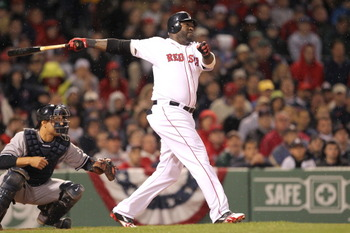 David Ortiz shows off his monstrous swing.