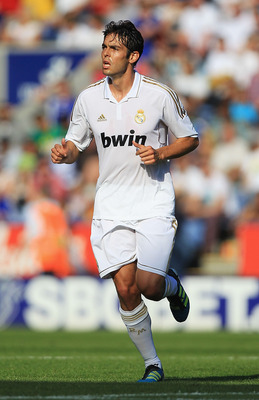 LEICESTER, ENGLAND - JULY 30:  Kaka of Real Madrid in action during the Pre-Season Friendly match between Leicester City and Real Madrid at The King Power Stadium on July 30, 2011 in Leicester, England.  (Photo by Matthew Lewis/Getty Images)