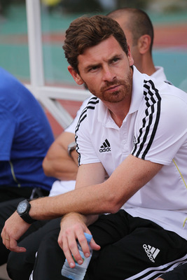 BANGKOK, THAILAND - JULY 24:  Chelsea Manager Andre Villas-Boas watches on from the sideline against Thailand during the pre-season friendly match between the Thailand All Stars and Chelsea at Rajamangala National Stadium on July 24, 2011 in Bangkok, Thai