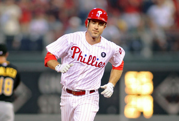 PHILADELPHIA, PA - JULY 29:  Chase Utley #26 of the Philadelphia Phillies smiles as he rounds the bases with his second-inning home run against the Pittsburgh Pirates at Citizens Bank Park on July 29, 2011 in Philadelphia, Pennsylvania.  (Photo by Len Red