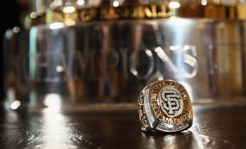 WASHINGTON, DC - JULY 25:  A World Series ring sits upon a table prior to an event where U.S. President Barack Obama welcomed the World Series champions San Francisco Giants to the East Room of the White House July 25, 2011 in Washington, DC. The Giants d