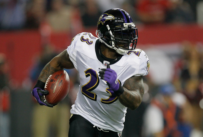 ATLANTA - NOVEMBER 11:  Willis McGahee #23 of the Baltimore Ravens against the Atlanta Falcons at Georgia Dome on November 11, 2010 in Atlanta, Georgia.  (Photo by Kevin C. Cox/Getty Images)