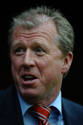 NOTTINGHAM, ENGLAND - JULY 27:  Steve McClaren of Nottingham Forest looks on during the Pre Season Friendly match between Nottingham Forest and PSV Eindhoven at City Ground on July 27, 2011 in Nottingham, England.  (Photo by Laurence Griffiths/Getty Image