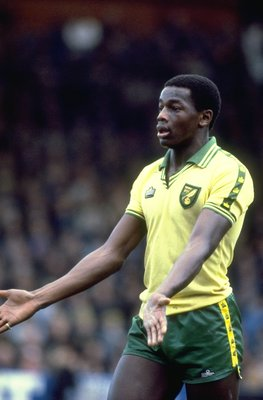 1981:  Portrait of Justin Fashanu of Norwich City during a match. \ Mandatory Credit: Tony  Duffy/Allsport
