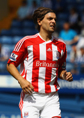 SHEFFIELD, ENGLAND - JULY 30:  Jonathan Woodgate of Stoke City in action during the pre season friendly match between Sheffield Wednesday and Stoke City at Hillsborough Stadium on July 30, 2011 in Sheffield, England.  (Photo by Clive Brunskill/Getty Image