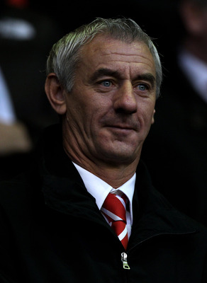LIVERPOOL, ENGLAND - JANUARY 01:  Ian Rush looks on prior to the Barclays Premier League match between Liverpool and Bolton Wanderers at Anfield on January 1, 2011 in Liverpool, England. (Photo by Michael Steele/Getty Images)