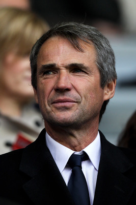 LIVERPOOL, ENGLAND - MAY 15:  Former Liverpool player Alan Hansen looks on from the stands during the Barclays Premier League match between Liverpool and Tottenham Hotspur at Anfield on May 15, 2011 in Liverpool, England.  (Photo by Michael Steele/Getty I