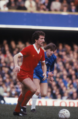 Liverpool FC footballer Graeme Souness, early 1980s. (Photo by Tony Duffy/Getty Images)