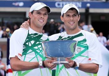 Bob and Mike Bryan won the Men's Doubles title at the 2010 U.S. Open