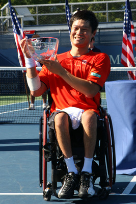 Shingo Kunieda won the Wheelchair Men's Singles title in 2009.