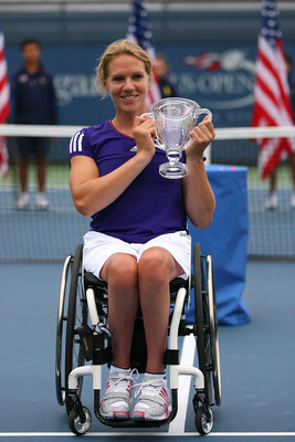 Esther Vergeer won the Wheelchair Women's Singles and Doubles titles at the 2010 U.S. Open.