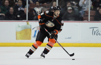 ANAHEIM, CA - FEBRUARY 16:  Andreas Lilja #3 of the Anaheim Ducks skates against the Washington Capitals at Honda Center on February 16, 2011 in Anaheim, California.  (Photo by Jeff Gross/Getty Images)