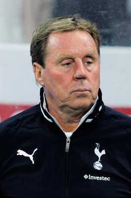 NELSPRUIT, SOUTH AFRICA - JULY 19: Tottenham coach Harry Redknapp during the 2011 Vodacom Challenge match between Orlando Pirates and Tottenham Hotspur from Mbombela Stadium on July 19, 2011 in Nelspruit, South Africa. (Photo by Lefty Shivmabu /Gallo Imag