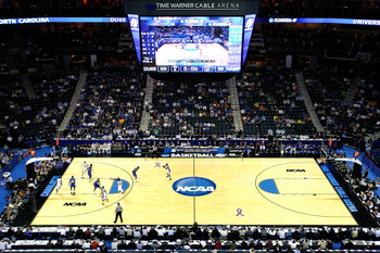CHARLOTTE, NC - MARCH 18:  A general view during the second round of the 2011 NCAA men's basketball tournament between the Duke Blue Devils and the Hampton Pirates at Time Warner Cable Arena on March 18, 2011 in Charlotte, North Carolina.  (Photo by Kevin