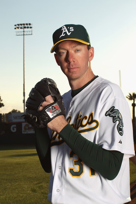 PHOENIX, AZ - FEBRUARY 24:  Brad Ziegler #31 of the Oakland Athletics poses for a portrait during media photo day at Phoenix Municipal Stadium on February 24, 2011 in Phoenix, Arizona.  (Photo by Ezra Shaw/Getty Images)
