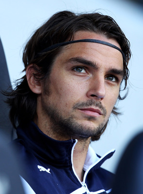 LONDON, ENGLAND - MAY 22: Niko Kranjcar of Tottenham Hotspur looks on from the bench during the Barclays Premier League match between Tottenham Hotspur and Birmingham City at White Hart Lane on May 22, 2011 in London, England.  (Photo by Julian Finney/Get