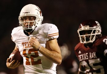 Colt McCoy in the Longhorn vs. Aggies rivalry game