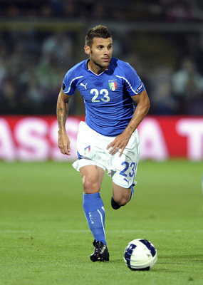 MODENA, ITALY - JUNE 03:  Antonio Nocerino of Italy in action  during the UEFA EURO 2012 Group C qualifying match between Italy and Estonia on June 3, 2011 in Modena, Italy.  (Photo by Dino Panato/Getty Images)