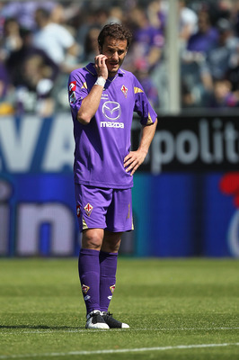 FLORENCE, ITALY - MAY 01: Alberto Gilardino of ACF Fiorentina reacts during the Serie A match between ACF Fiorentina and Udinese Calcio at Stadio Artemio Franchi on May 1, 2011 in Florence, Italy.  (Photo by Gabriele Maltinti/Getty Images)