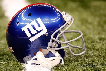 NEW ORLEANS - OCTOBER 18:  Eli Manning #10 of the New York Giants' helmet rests on the field prior to their NFL game against the New Orleans Saints at the Louisiana Superdome on October 18, 2009 in New Orleans, Louisiana.  (Photo by Chris Graythen/Getty I