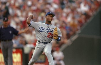 30 Jun 1998:  Adrian Beltre #29 of the Los Angeles Dodgers in action during an interleague game against the Texas Rangers at the Ball Park in Arlington, Texas.  The Dodgers won the game, 4-1. Mandatory Credit: Stephen Dunn  /Allsport