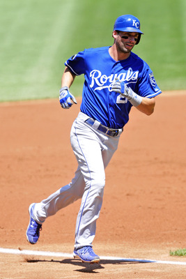 CLEVELAND, OH - JULY 31: Jeff Francoeur #21 of the Kansas City Royals rounds third base after a solo home run during the second inning against the Cleveland Indians at Progressive Field on July 31, 2011 in Cleveland, Ohio. (Photo by Jason Miller/Getty Ima