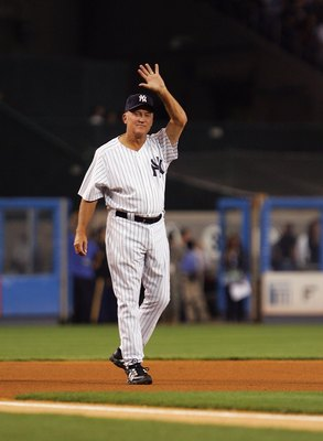 NEW YORK - SEPTEMBER 21: Former New York Yankee Graig Nettles waves to the crowd during pregame ceremonies prior to the start of the last regular season game at Yankee Stadium between the Baltimore Orioles and the New York Yankees on September 21, 2008 in