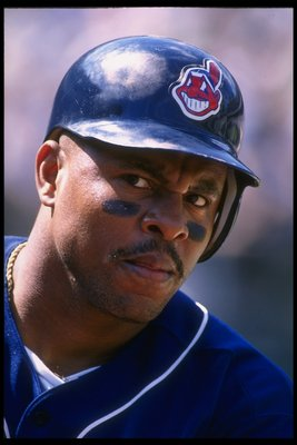 10 Aug 1996:  Albert Belle of the Cleveland Indians during the Indians 5-1 loss to the Oakland A''s at the Oakland Coliseum in Oakland, California.  Mandatory Credit: Otto Greule/Allsport