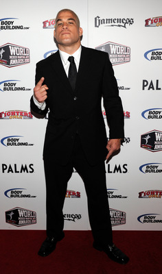 LAS VEGAS, NV - DECEMBER 01:  Mixed martial artist Tito Ortiz arrives at the third annual Fighters Only World Mixed Martial Arts Awards 2010 at the Palms Casino Resort December 1, 2010 in Las Vegas, Nevada.  (Photo by Ethan Miller/Getty Images)