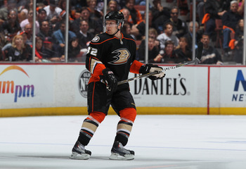 ANAHEIM, CA - APRIL 15:  Toni Lydman #32 of the Anaheim Ducks skates against the Nashville Predators in Game Two of the Western Conference Quarterfinals during the 2011 NHL Stanley Cup Playoffs at Honda Center on April 15, 2011 in Anaheim, California.  (P